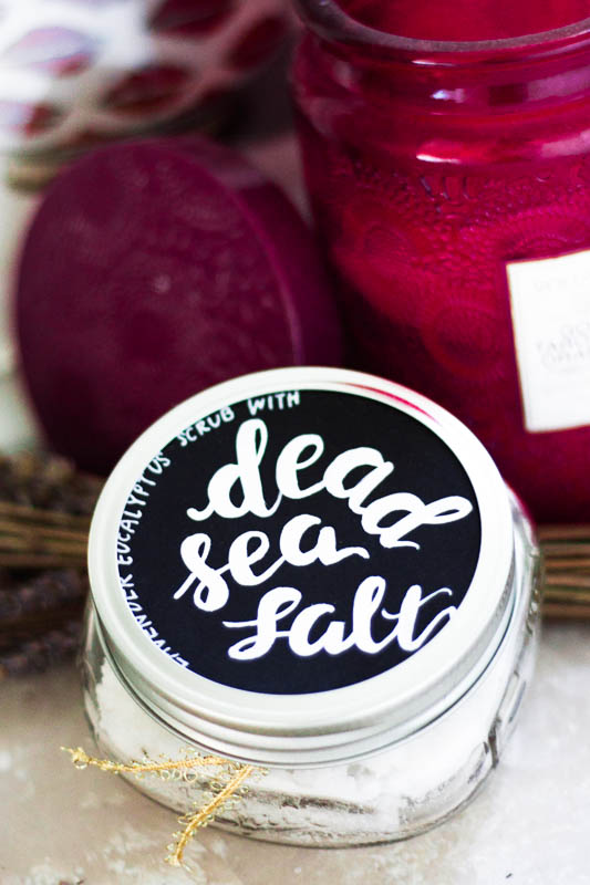 lavender eucalyptus salt scrub