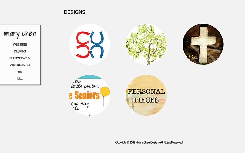 Past web design pieces