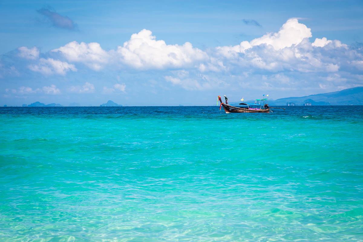 Bamboo island longboat