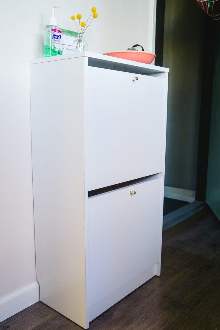 DIY IKEA BISSA shoe cabinet hack