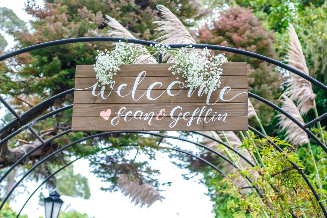 DYI wedding welcome sign