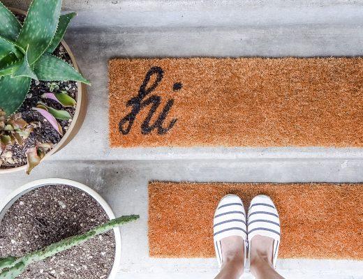 DIY doormat lettering