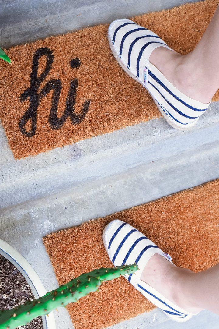 DIY skinny doormat