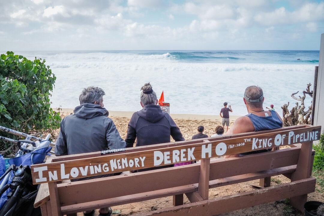 bonzai pipeline beach oahu hawaii in loving memory of derek ho king of pipeline bench